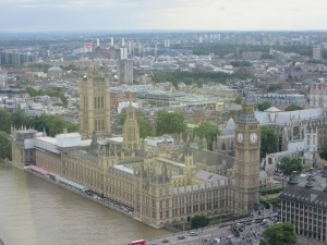 Big Ben and Parliament From London Eye