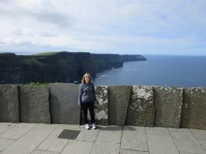 Top of the path at the Cliffs of Moher